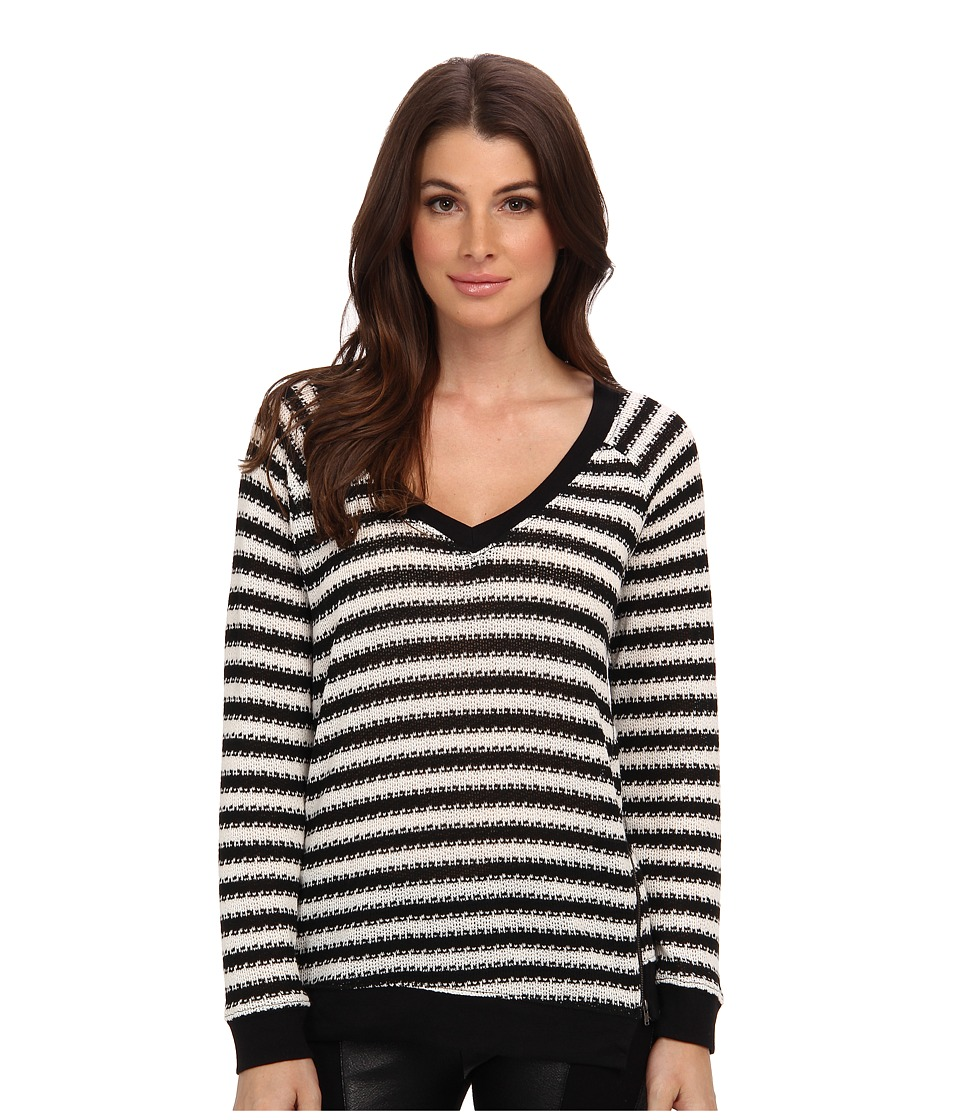 Sanctuary - Fawn Sweater (Black/White) Women's Sweater