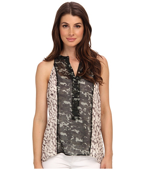 Sanctuary - Collage Tank (Feather Spot/Green) Women's Sleeveless