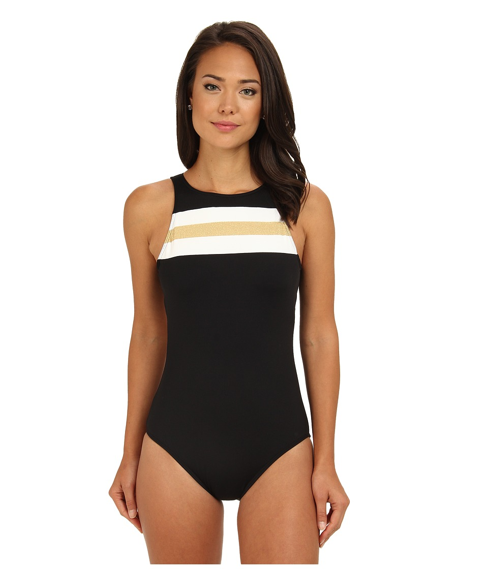 LAUREN by Ralph Lauren - Speed Boat Carlita One-Piece (Black/Gold) Women's Swimsuits One Piece