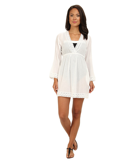 LAUREN by Ralph Lauren - Crushed Chelsea Tunic Cover-Up (White) Women