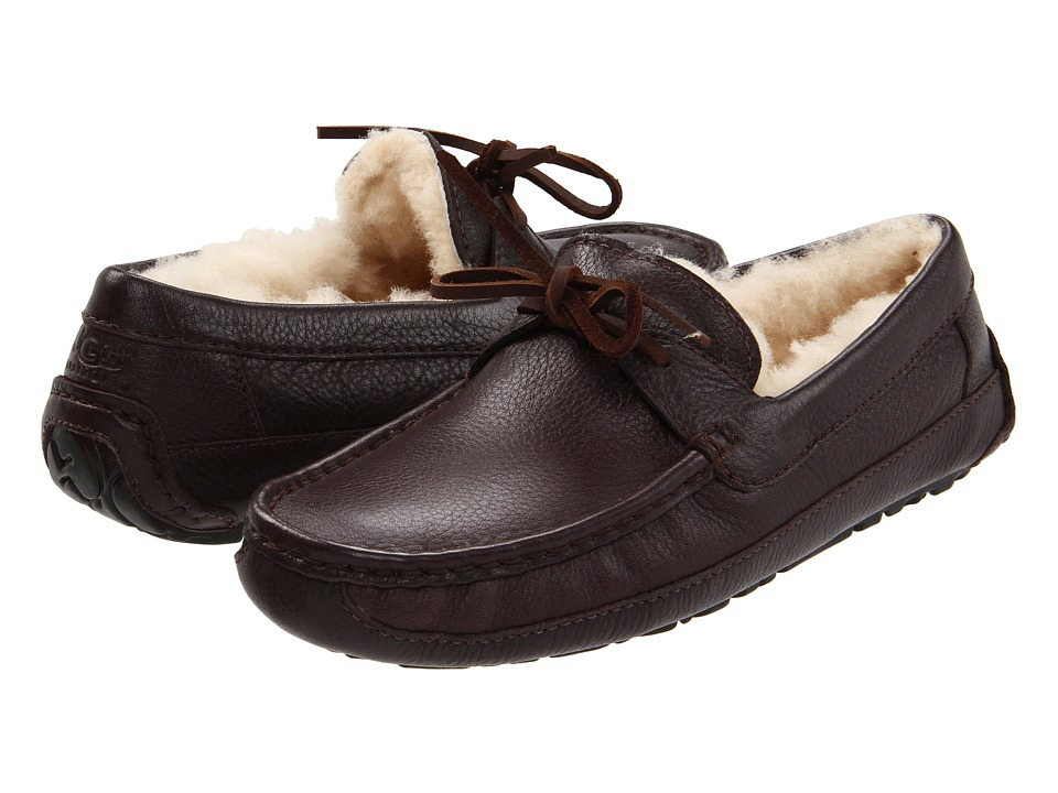 UGG - Byron (Chocolate Leather) Men's Slippers