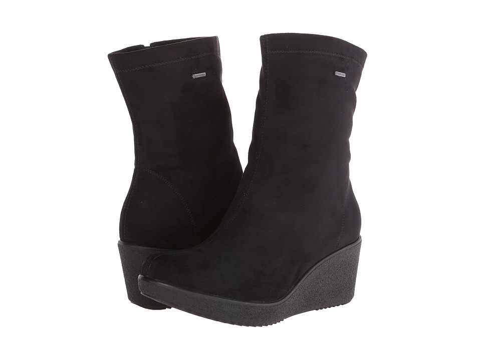 ara - Veda (Black Stretch Microsuede) Women's Boots