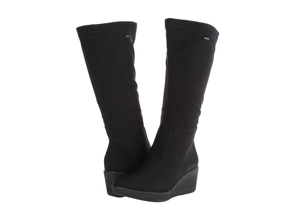 ara - Velia (Black Stretch Fabric) Women's Boots