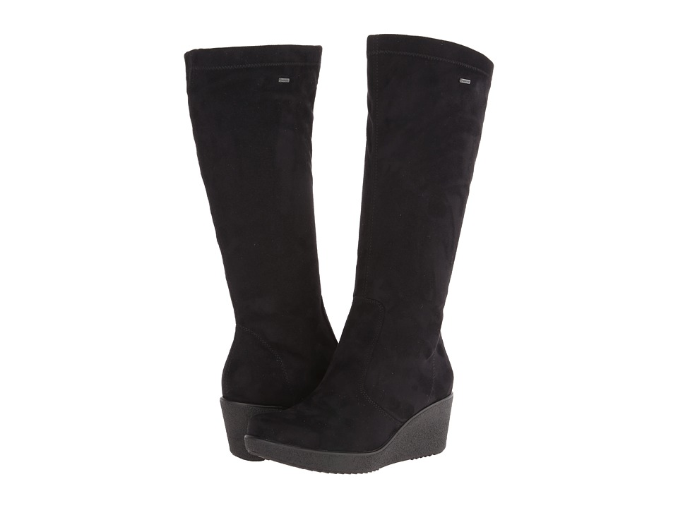 ara - Velia (Black Stretch Microsuede) Women's Boots