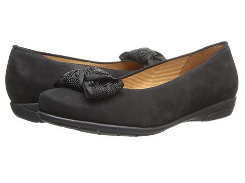 ara - Seeley (Black Brushed Nubuk) Women's Flat Shoes