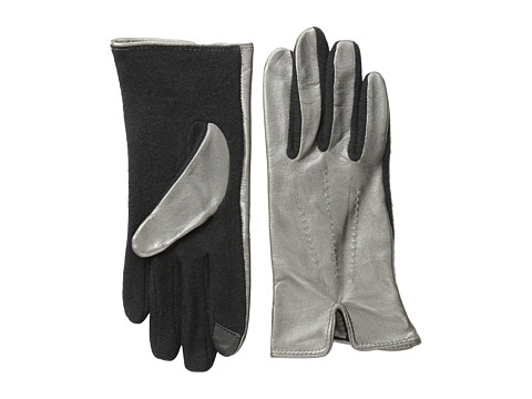 Echo Design - Echo Touch Basic with Leather Glove (Metallic Gunmetal) Dress Gloves