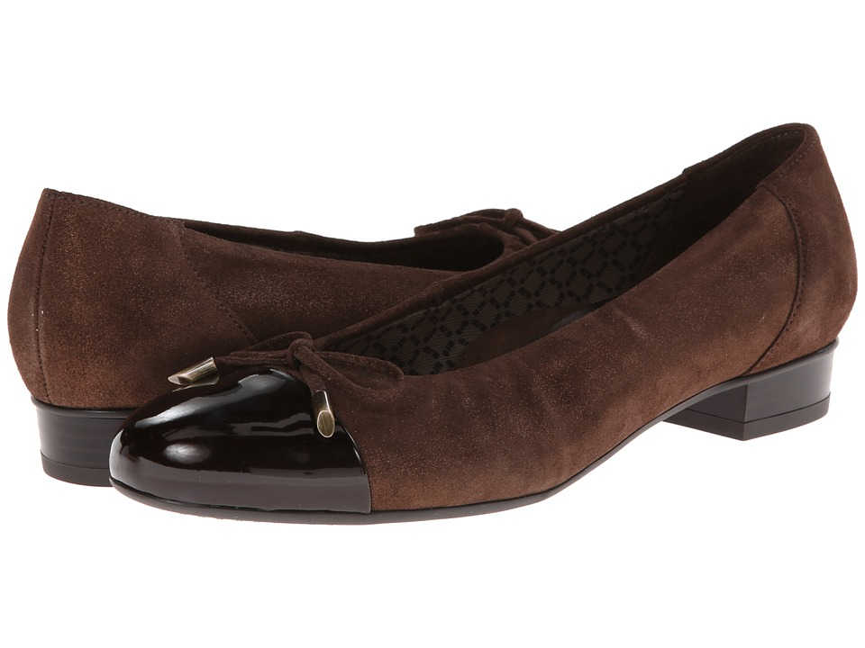 ara - Bria (Bronze Metallic/Brown Patent Toe) Women's Flat Shoes
