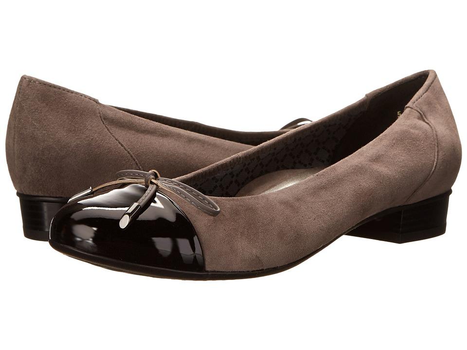 ara Bria (Grey Suede/Black Patent Toe) Women
