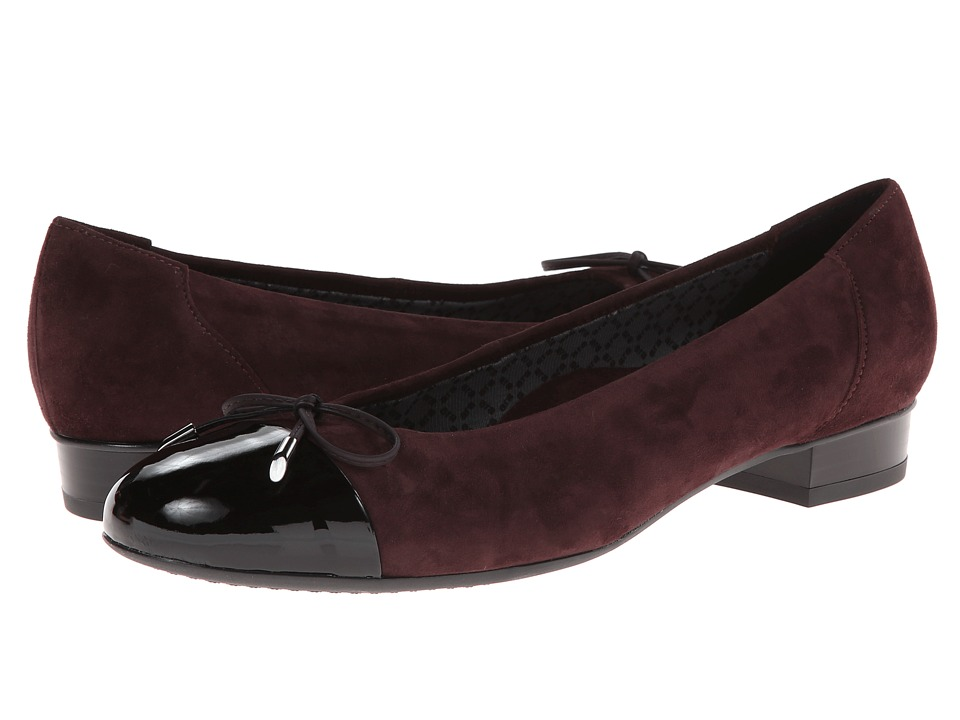 ara Bria (Purple Suede/Black Patent Toe) Women