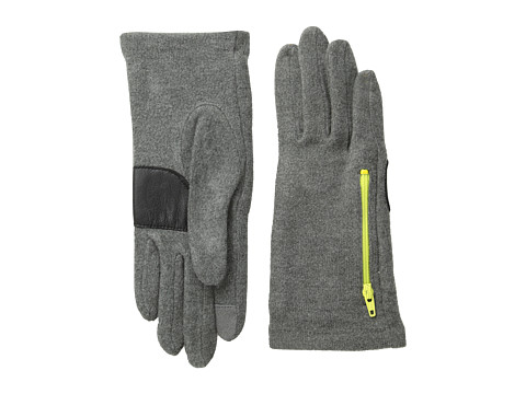 Echo Design - Echo Touch Warmers Zip Pocket Glove (Grey Heather) Dress Gloves