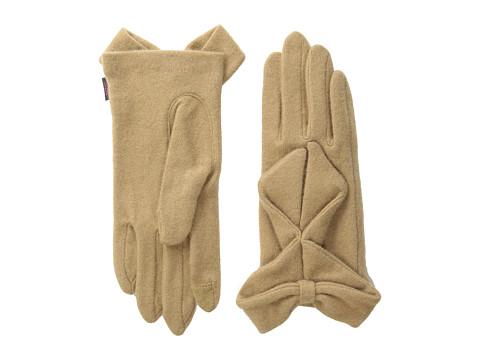 Echo Design - Echo Touch Ruffled Bow Glove (Camel) Dress Gloves