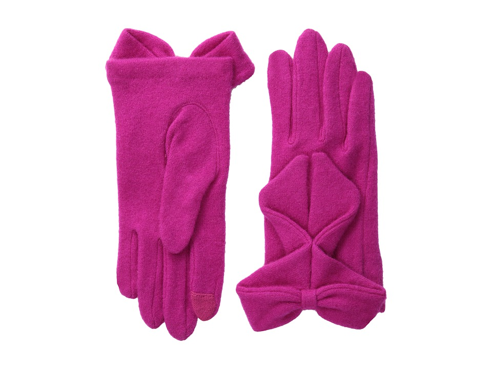 Echo Design - Echo Touch Ruffled Bow Glove (Magenta) Dress Gloves