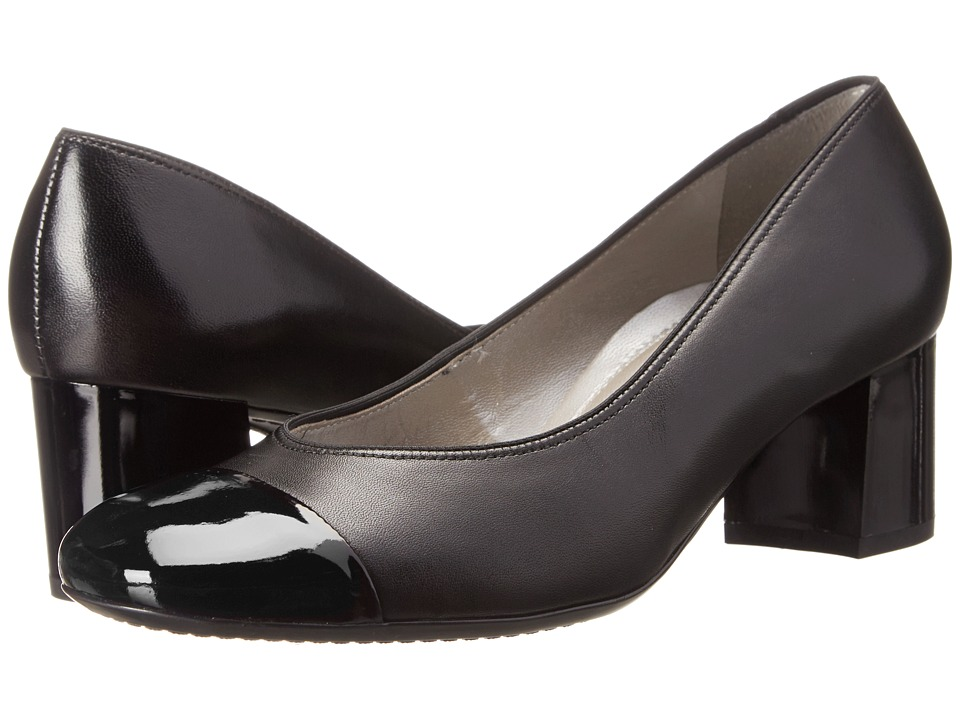 ara Lian (Black Leather/Patent Toe) High Heels