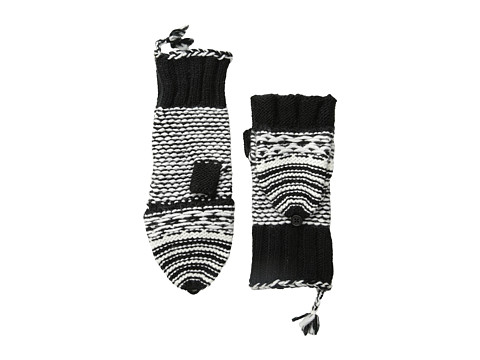 Echo Design - Highland Girl Pop Top Glove (Black) Dress Gloves