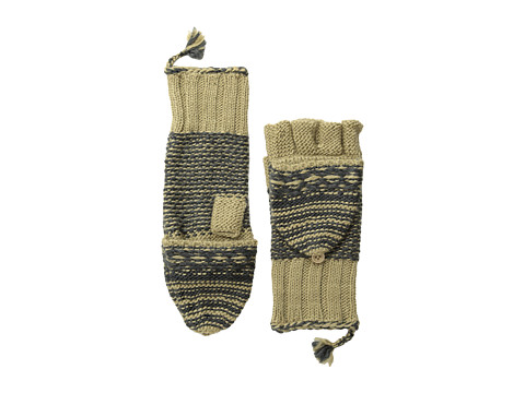 Echo Design - Highland Girl Pop Top Glove (Khaki) Dress Gloves