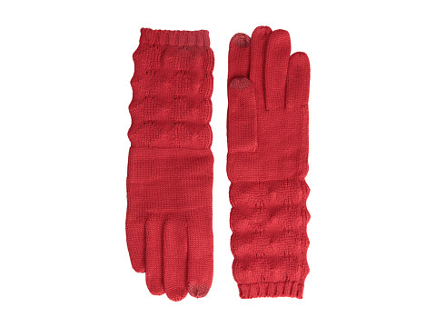 Echo Design - mSoft Diamond Stitch Touch Glove (Red) Dress Gloves
