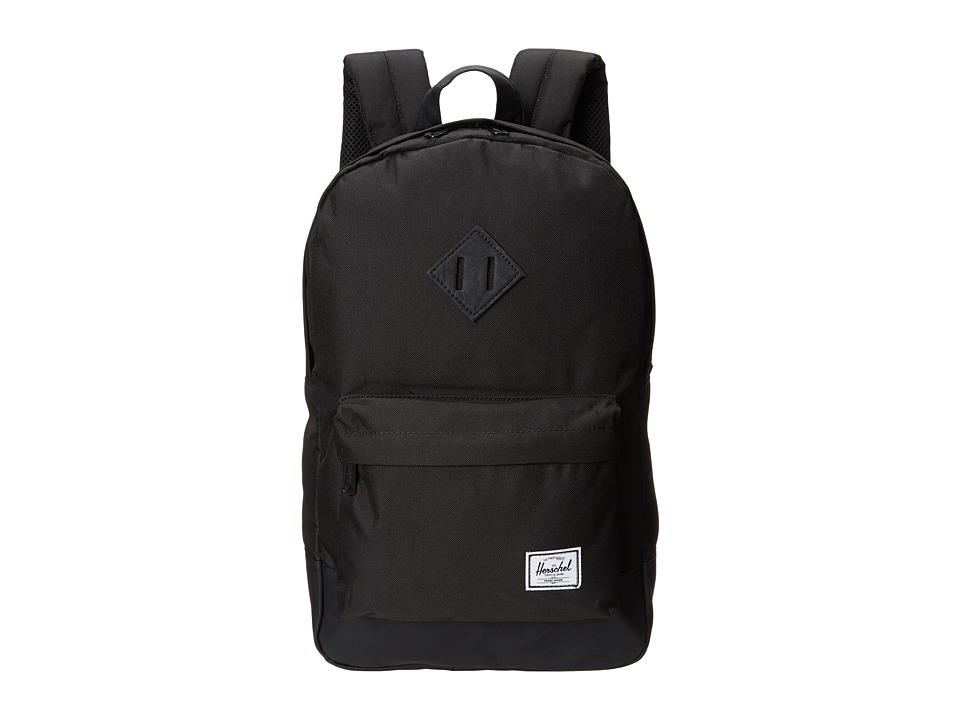 Herschel Supply Co. - Heritage Medium Volume (Black/Black) Backpack Bags