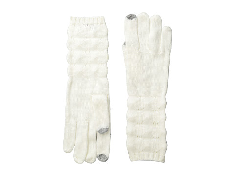 Echo Design - mSoft Diamond Stitch Touch Glove (Cream) Dress Gloves