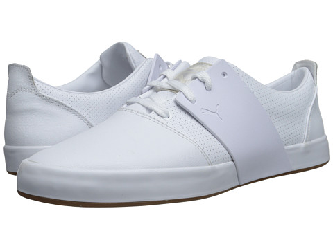 PUMA - El Ace 3 Leather (White/Vaporous Gray) Men's Classic Shoes