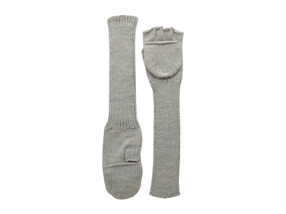 Echo Design - Long Sleeved Pop Top Glove (Grey Heather) Dress Gloves