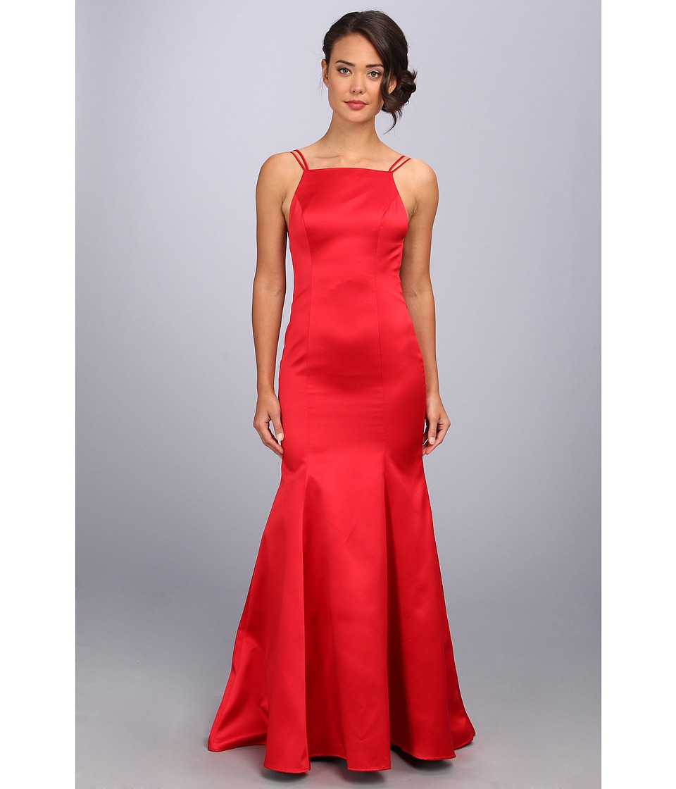 ABS Allen Schwartz Double Strap Open Back Mermaid Dress (Red) Women