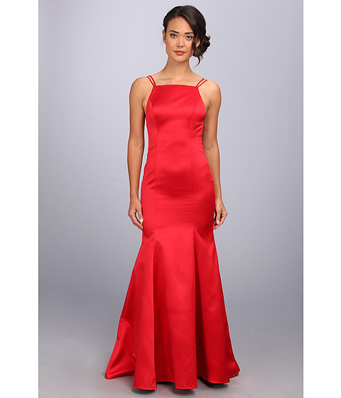 ABS Allen Schwartz - Double Strap Open Back Mermaid Dress (Red) Women
