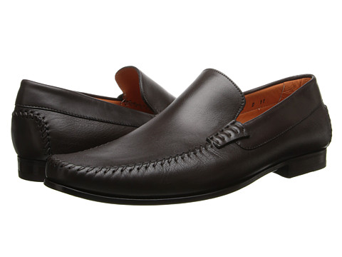 Santoni - Auburn (Dark Brown) Men's Slip-on Dress Shoes