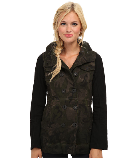 Hurley - Winchester Fleece Jacket (Deepest Green Camo) Women's Jacket
