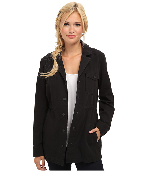Hurley - Military Long Jacket (Black) Women's Coat