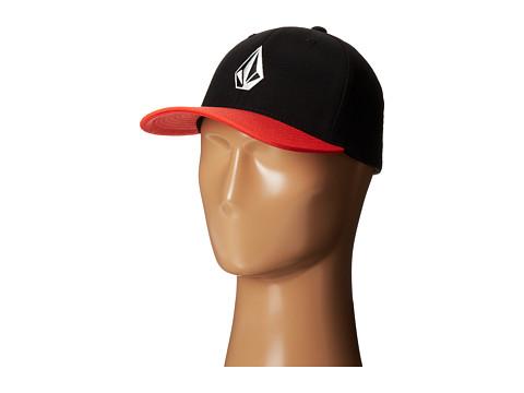 Volcom - Full Stone Frabric XFit Flexfit Hat (Firecracker) Caps