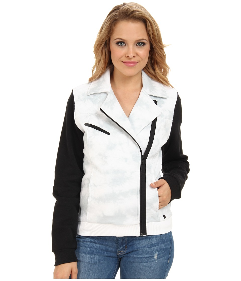 Hurley - Moto Fleece Jacket (White) Women's Jacket