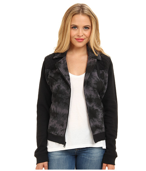 Hurley - Moto Fleece Jacket (Black) Women's Jacket