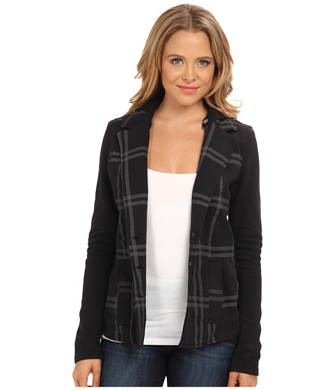 Hurley - Winchester Blazer (Black Plaid) Women's Jacket