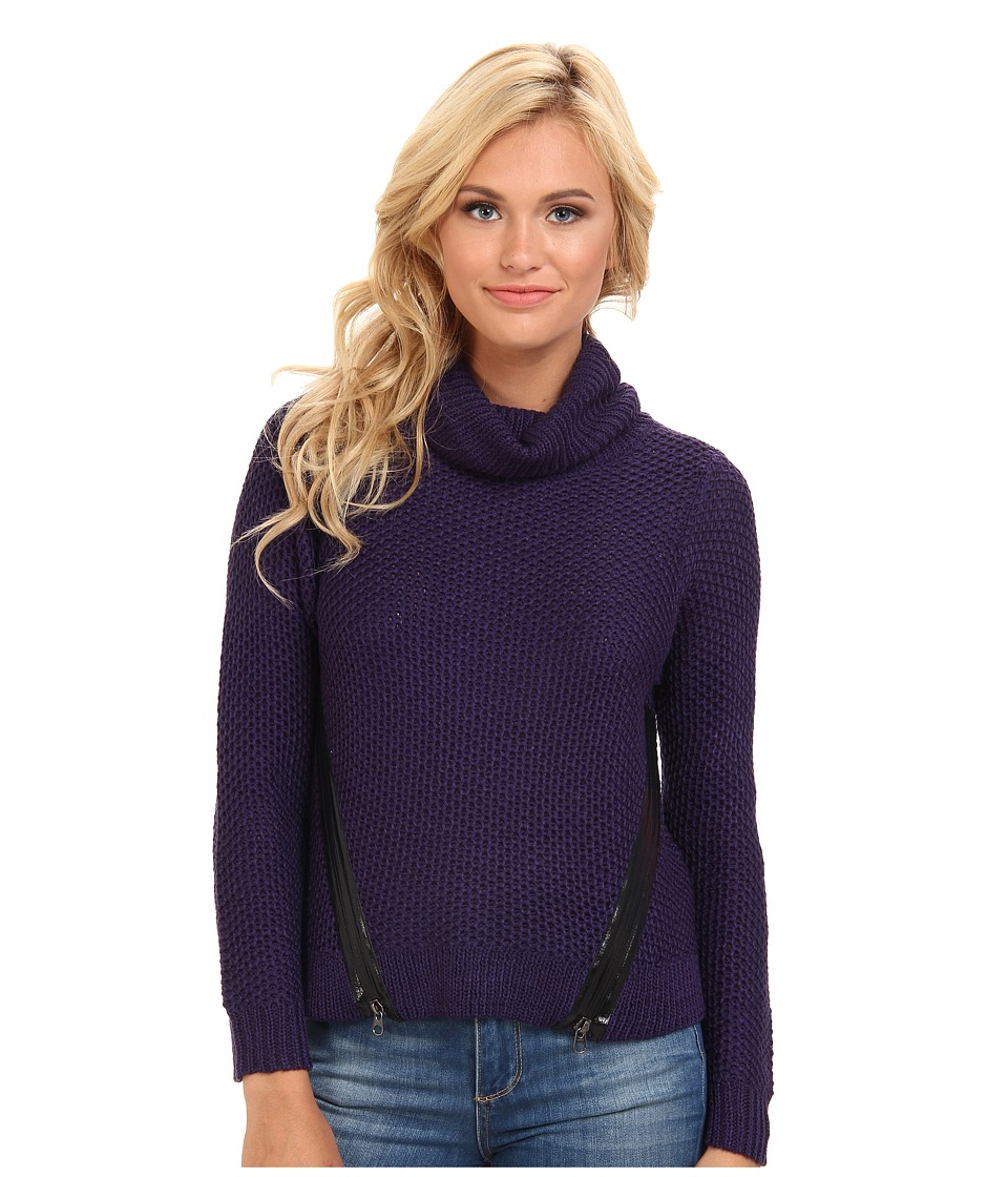 StyleStalker - Chez Moi Sweater (Navy) Women's Long Sleeve Pullover