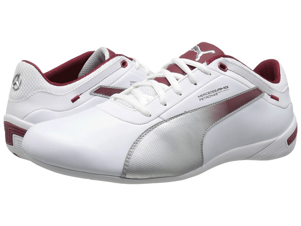 PUMA - Touring Cat MAMGP Grid (White/Puma Silver/Biking Red) Men