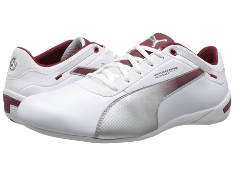 PUMA - Touring Cat MAMGP Grid (White/Puma Silver/Biking Red) Men's Classic Shoes