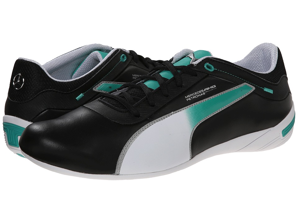 PUMA - Touring Cat MAMGP Grid (Black/White/Arcadia) Men's Classic Shoes