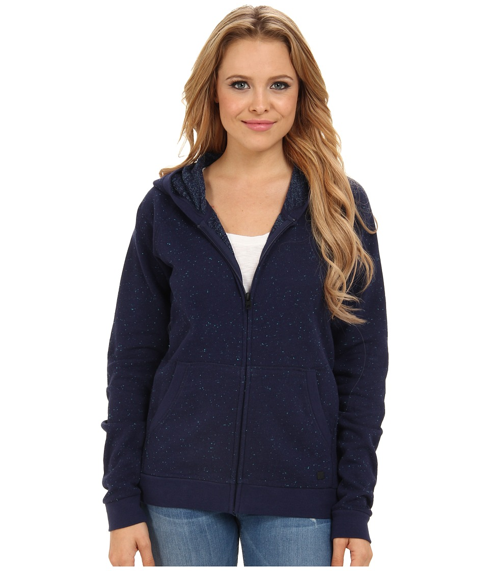 Hurley - Walker Fleece Zip Hoodie (Midnight Navy) Women's Sweater