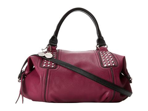 kensie Zandra Satchel (Cerise/Black) Satchel Handbags
