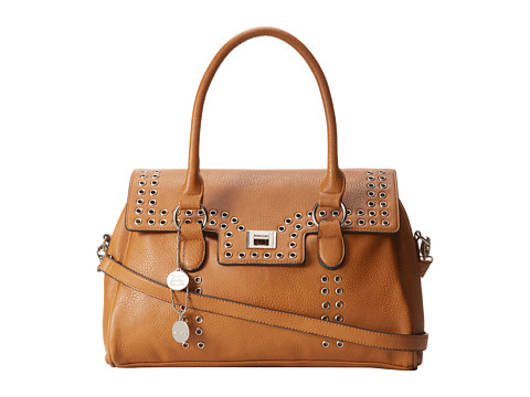 kensie Grommet Satchel (Caramel) Satchel Handbags