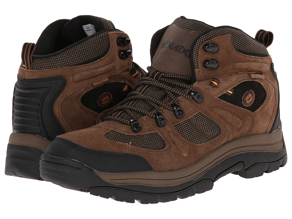 Nevados - Klondike Mid WP (Earth Brown/Black/Tigerlily Orange 1) Men's Lace up casual Shoes