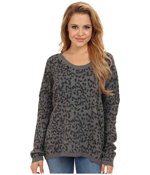 Hurley - Bodie Sweater (Heather Grey Leopard Jaquard) Women