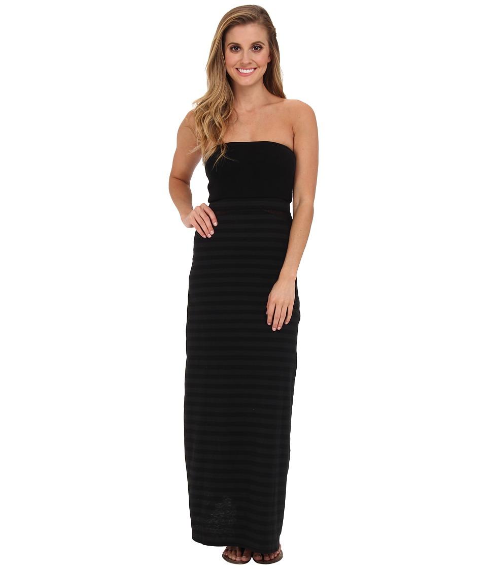 Hurley - Tomboy Mesh Maxi Dress/Optional Foldover Skirt (Black Stripe) Women