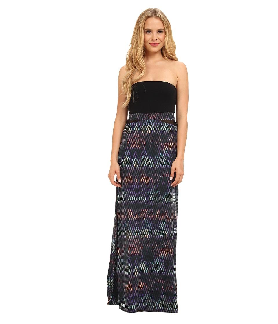 Hurley - Tomboy Mesh Maxi Dress/Optional Foldover Skirt (Midnight Navy 3D Print) Women