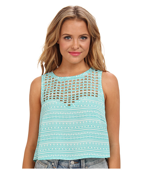Ali & Kris - Cut Out Tank (Teal) Women's Sleeveless