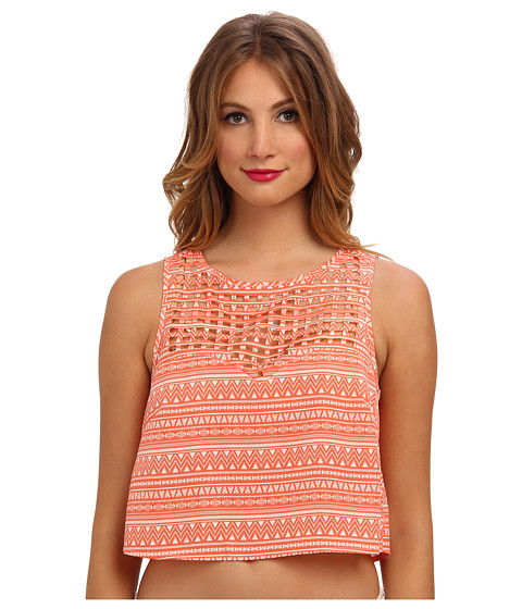 Ali & Kris - Cut Out Tank (Coral) Women's Sleeveless