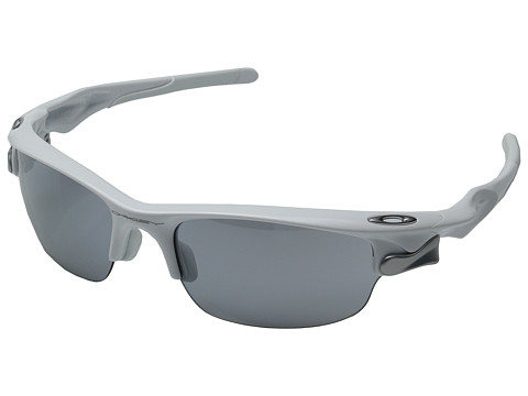 Oakley - Fast Jacket Polarized (Asian Fit) (Polarized White with Slate Iridium) Sport Sunglasses