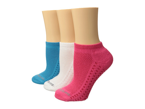 Wigwam - So Soft Low Cut 3-Pair Pack (Coral/Aqua/White) Women's Crew Cut Socks Shoes
