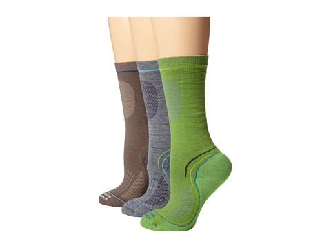 Wigwam - Tech Pro Crew 3-Pair Pack (Jade/Mushroom/Grey) Women's Crew Cut Socks Shoes