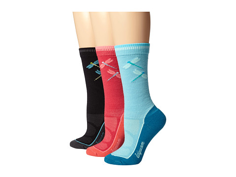 Wigwam - Hiker Pro 3-Pair Pack (Black/Aqua/Rose) Women's Quarter Length Socks Shoes